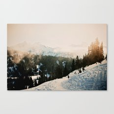 Winter Mountain Hike Canvas Print