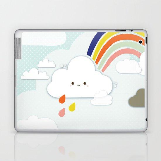 Cute clouds & rainbow Laptop & iPad Skin