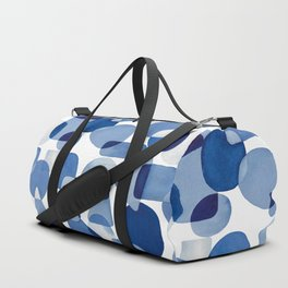 Blue Watercolour Geometric Duffle Bag