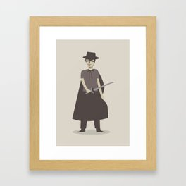 El Zorro Framed Art Print