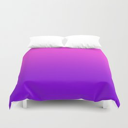 Pink to Purple Ombre Gradient Duvet Cover