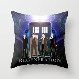 The Doctor Of Regeneration Throw Pillow