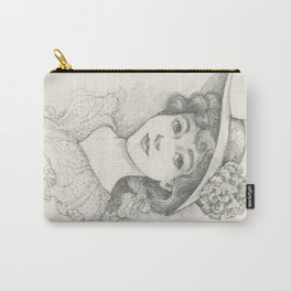 Sketch of an Edwardian Lady Carry-All Pouch