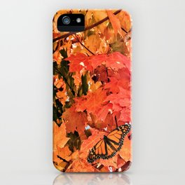 Butterfly in Fall  iPhone Case