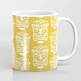 Tiki Pattern Mustard Yellow Coffee Mug