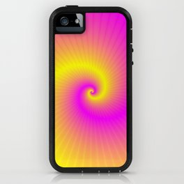 Pink and Yellow Spiral iPhone Case
