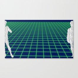 80's Postmodern Mystery Grid Canvas Print