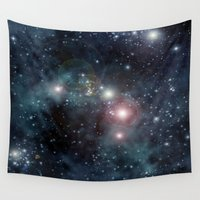 outer space Wall Tapestries featuring Outer Space by apgme