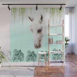 Mystery Garden - Horse drawing Wall Mural