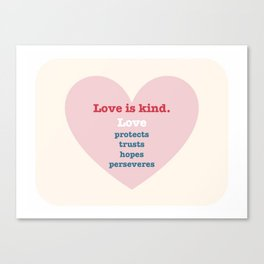 Love is... Canvas Print