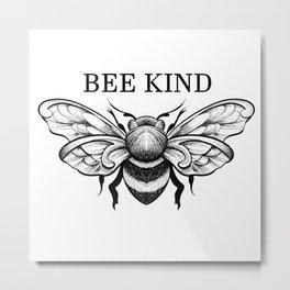 BEE KIND Metal Print