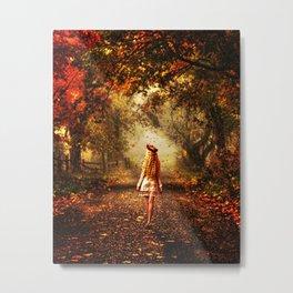 Autumn Stroll Metal Print