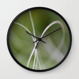 Macro of A Green Palm Tree Leaf  Fond Wall Clock