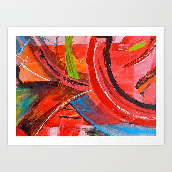 IBIZA - colorful abstract painting Art Print