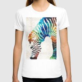 Colorful Zebra Art by Sharon Cummings T-shirt