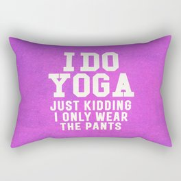 I DO YOGA JUST KIDDING I ONLY WEAR THE PANTS (Vintage Purple) Rectangular Pillow