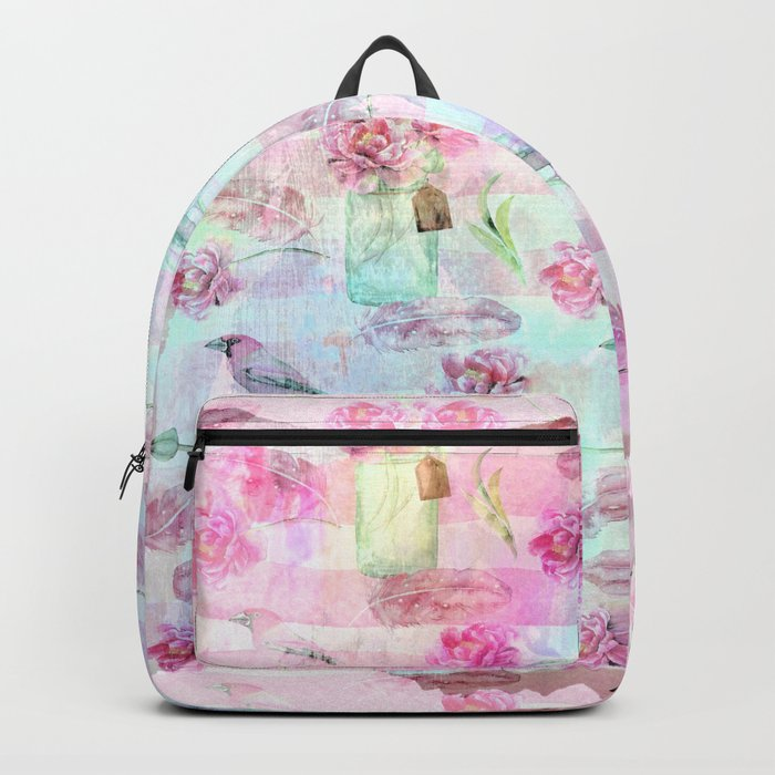 Summer pattern - Floral Flowers in pink on #Society6 Backpack