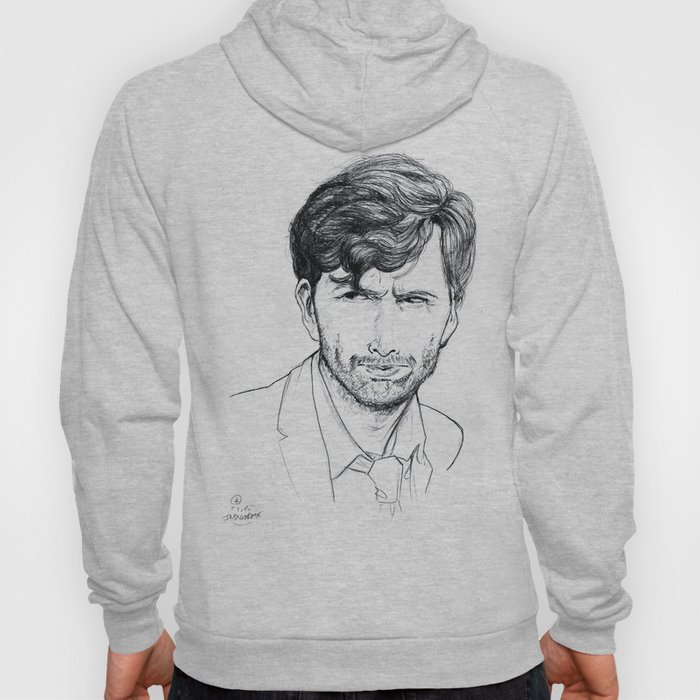 David Tennant as Broadchurch's Alec Hardy (or Gracepoint's Emmett Carver) Etching Hoody