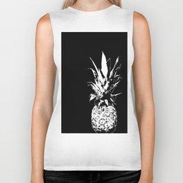 Pineapple Black and White #decor #society6 Biker Tank