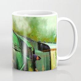 Green Steam Train Coffee Mug