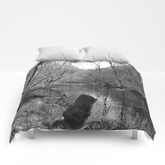 Stream on a Mountain Comforters