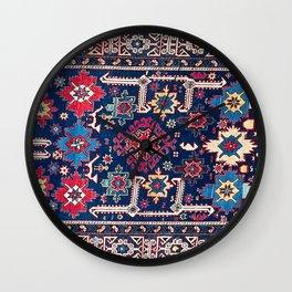 Kuba East Caucasus Long Rug Print Wall Clock