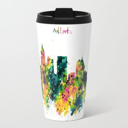 Atlanta Watercolor Skyline Travel Mug