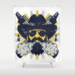 Cloud Chaser - Vaping Bearded Man Shower Curtain
