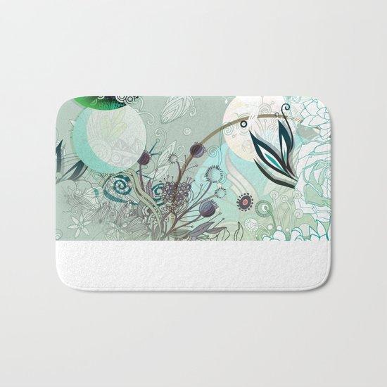 Floral collage Bath Mat