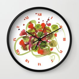 Atom Flowers #38 Wall Clock