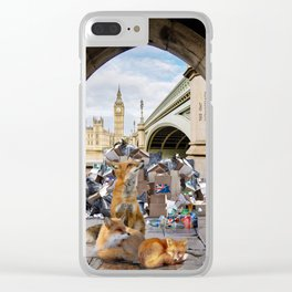 Westminster Foxes. Clear iPhone Case