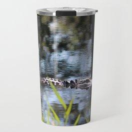 Alligator Moving Along Travel Mug