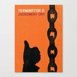 Terminator 2 Judgement Day Vintage Poster Canvas Print