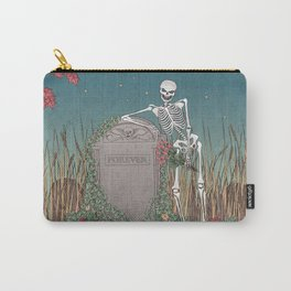 Skeleton Leaning on Grave Carry-All Pouch
