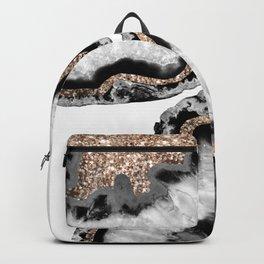 Yin Yang Agate Glitter Glam #7 #gem #decor #art #society6 Backpack