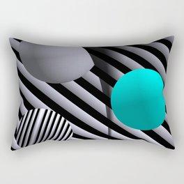 go turquoise -7- Rectangular Pillow