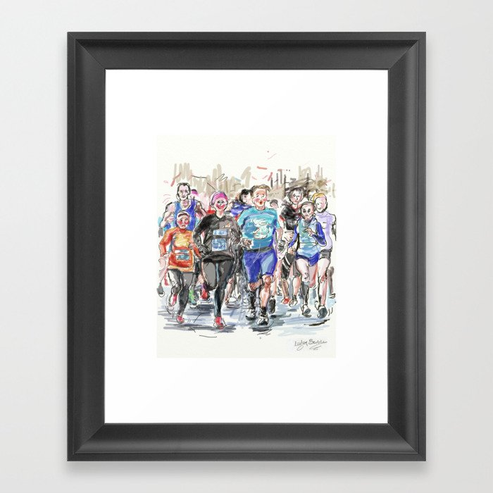 Runners Jogging Framed Art Print