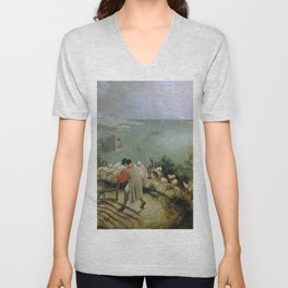 Pieter Bruegel the Elder - Landscape with the Fall of Icarus Unisex V-Neck