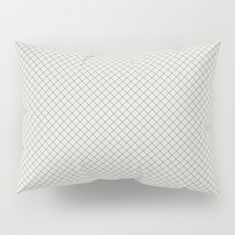 Blue & Linen White Angled Grid Line Pattern Pairs To 2020 Color of the Year Chinese Porcelain Pillow Sham