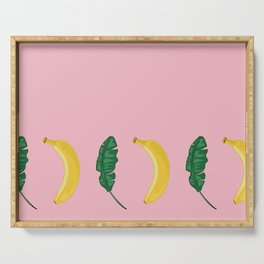 Pink Tropical Summer Serving Tray