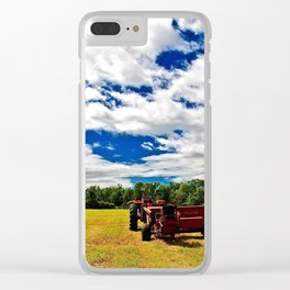 at the end of summer Clear iPhone Case