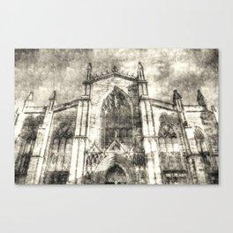 St Giles Cathedral Edinburgh Vintage Canvas Print