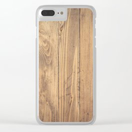 Wooden Background Clear iPhone Case