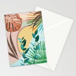 Eucalyptus Tropical Summer Oasis #2 #tropical #wall #art #society6 Stationery Cards