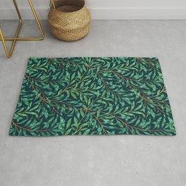 Midnight leaves Rug
