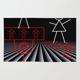 stick figures -02- Rug