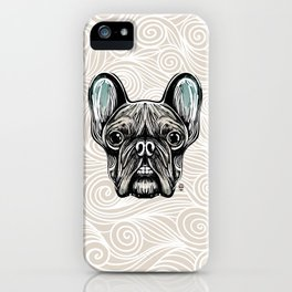 French Bulldog Smilling iPhone Case
