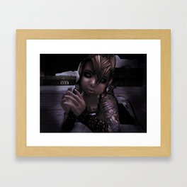 Girl with a Grudge Framed Art Print