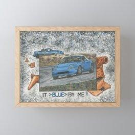 It blue by me. Framed Mini Art Print