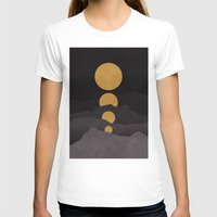 calm T-shirts featuring Rise of the golden moon by Picomodi